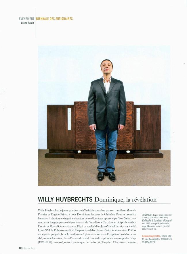 Willy HUYBRECHTS, Dominique la révélation