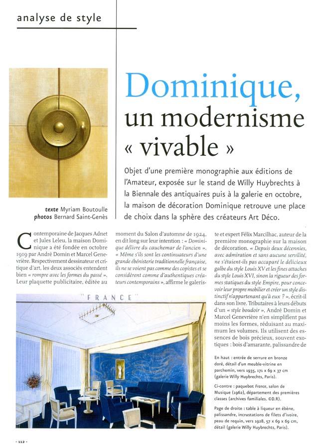 Publicité de la Galerie
