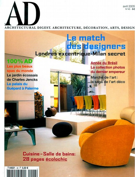 Architectural Digest Avril 2005