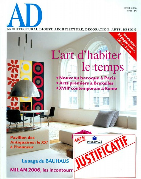 Architectural Digest Avril 2006