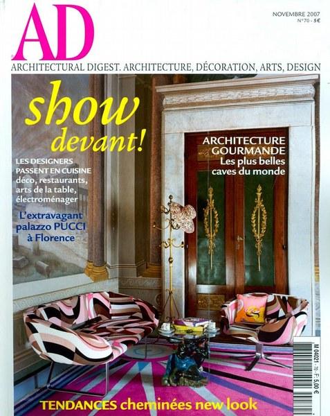 Architectural Digest Novembre 2007