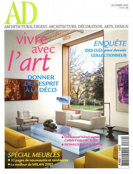 Architectural Digest Octobre 2007