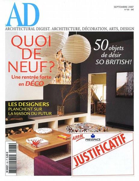 Architectural Digest Septembre 2007