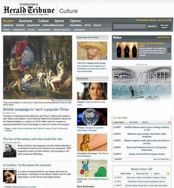 Herald Tribune Septembre 2008