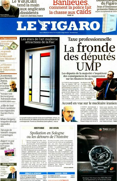 Le Figaro Magazine Octobre 2009