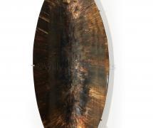Grand miroir concave de forme ovale