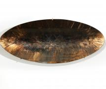 Mirror, an oval and concave glass