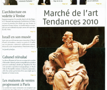 Journal des Arts - Septembre 2010